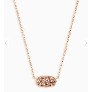 Kendra Scott - Elisa Necklace Rose Gold Drusy